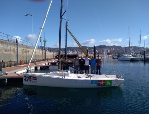 El nuevo equipo Marina Rubicón J70 se estrena subiendo al podio de la Vigo Winter Series